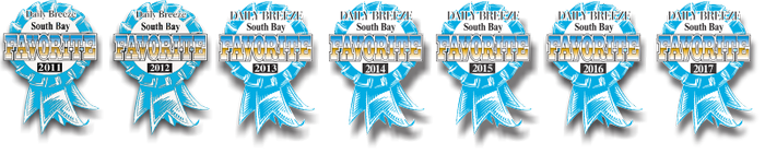 Torrance Optometry was voted the South Bay's Favorite Optometrist by Daily Breeze readers 2011-2017