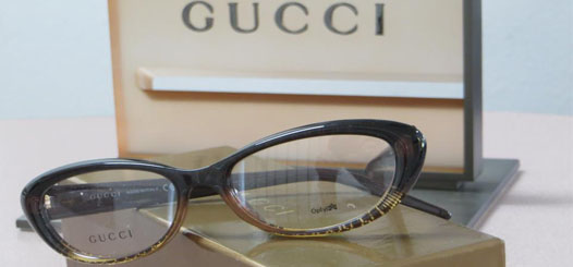 Gucci designer eyeglass frames in our Torrance office