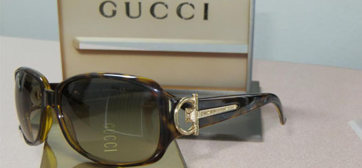 Gucci and hot designer brand sunglasses in our Torrance office