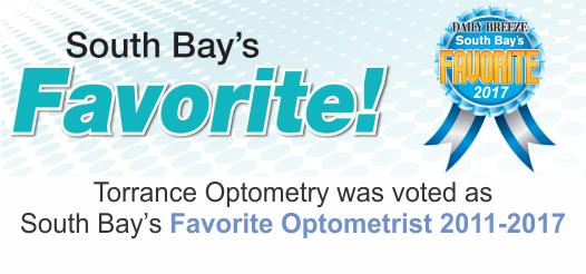 Torrance Optometry was voted South Bay's Favorite Optometrist